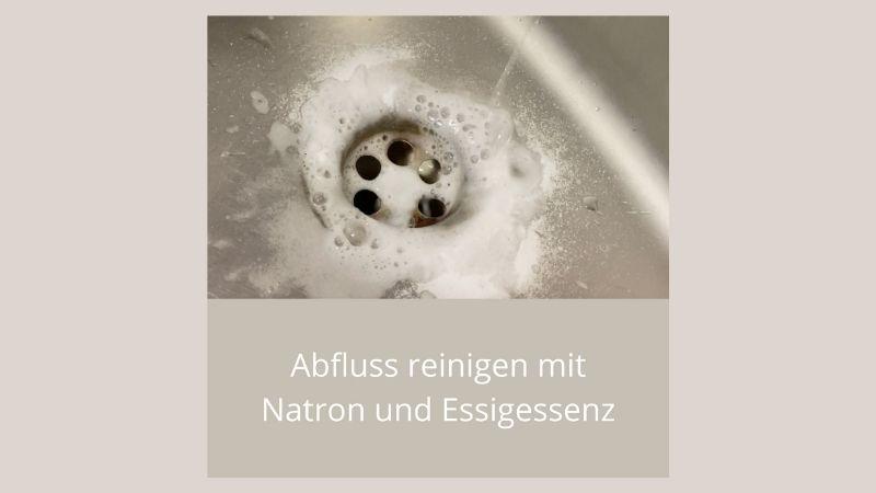 Abfluss reinigen mit Natron und Essigessenz