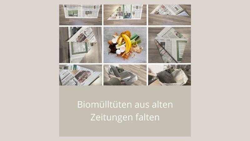 Biomülltüten aus alten Zeitungen falten